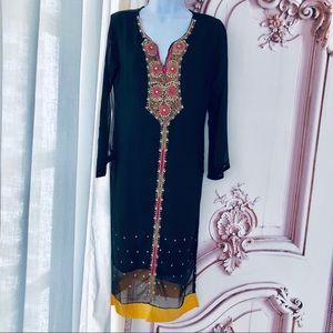 Dresses & Skirts - Vintage Silk Indian Tunic